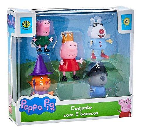 Peppa Pig - Conjunto com 5 bonecos Dtc