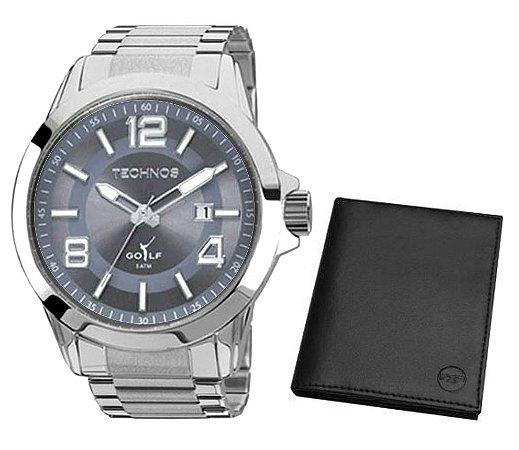 Relógio Technos Golf Masculino + Carteira – 2115KPS/K1C