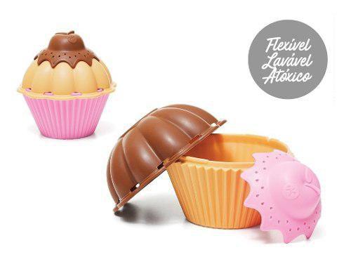 Brinquedo De Encaixar Fofety - Cupcakes - Calesita