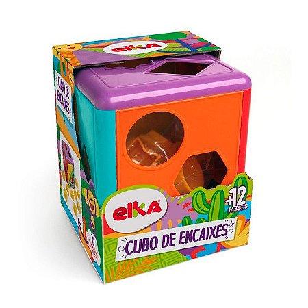 Blocos de Montar - Cubo de Encaixes Colorido - Elka