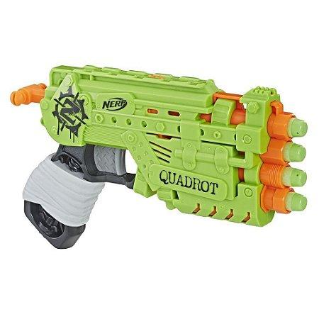 Lançador Nerf Zombie Strike Quadrot - Hasbro