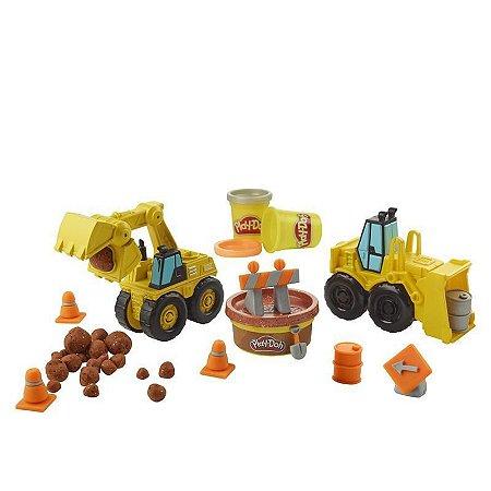 Play-Doh Wheels Escavadeira e Carregadeira - Hasbro
