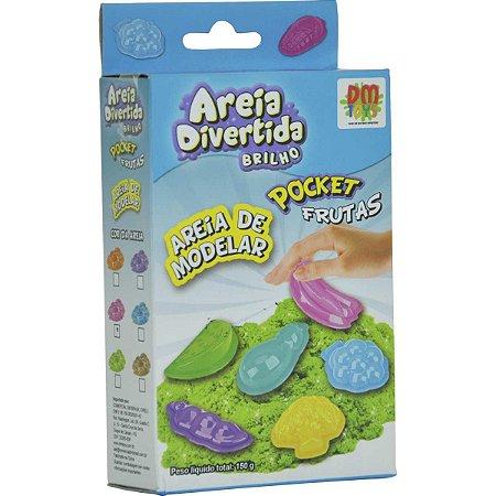 Massa Areia Divertida Brilho Pocket Frutas - Dm Toys