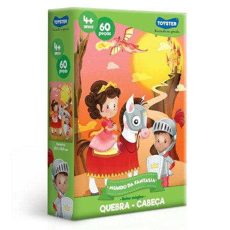 Quebra-Cabeça Mundo Da Fantasia 60 Peças - Reino Magico - Toyster