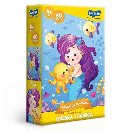 Quebra-Cabeça Mundo Da Fantasia 60 Peças - Fundo do Mar - Toyster