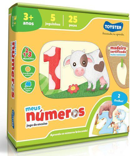 Jogo Pedagógico de Encaixar - Meus Números - Toyster