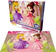 Quebra Cabeça Princesas 100 Peças Princess 24X39cm - Pais Filhos