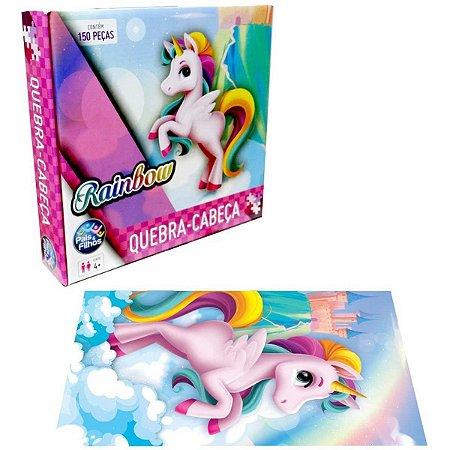 QUEBRA-CABECA Cartonado Unicornio Rainbow 150 Pecas - Pais E Filhos