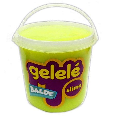 Gelelé Slime Balde Tradicional Verde 457g - 3352 Doce Brinquedo
