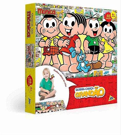 Quebra-cabeça De Chão Turma Da Mônica 48 Peças Grandão Jak Toyster