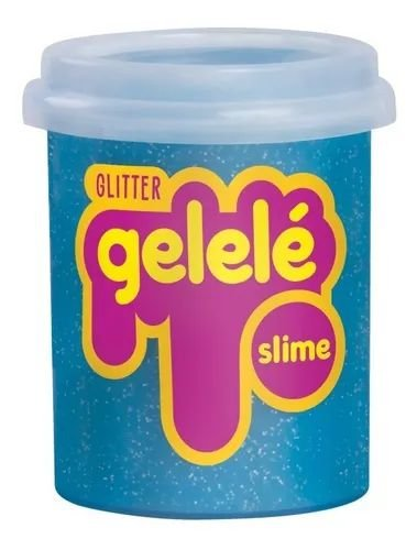 Gelelé Slime Glitter Pote 152G Azul - Doce Brinquedo