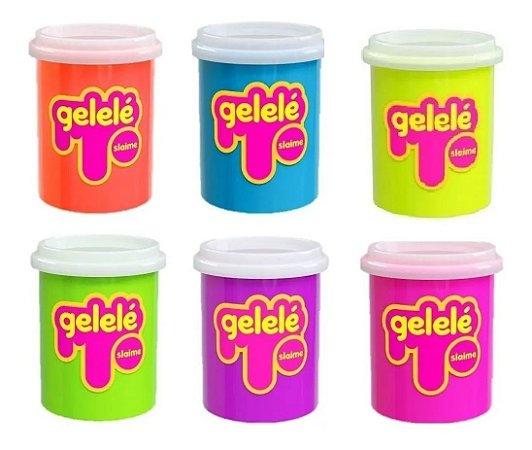 Gelelé Slime Pote Tradicional Unitário 152g Cores Sortidas
