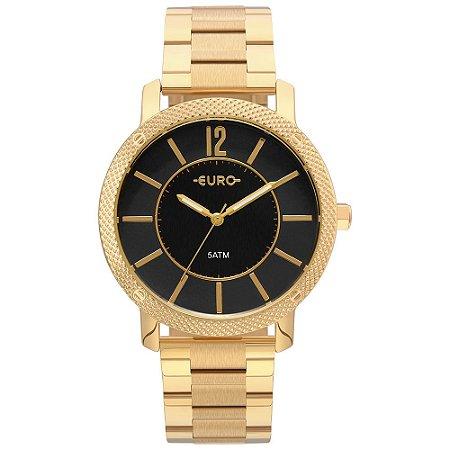 Relógio Euro Feminino Texturas Dourado Eu2036ymg/4p