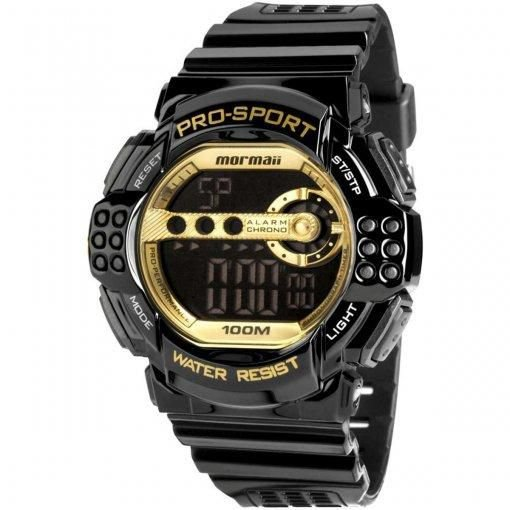Relógio Mormaii Masculino Digital Y11540/8d Preto/dourado