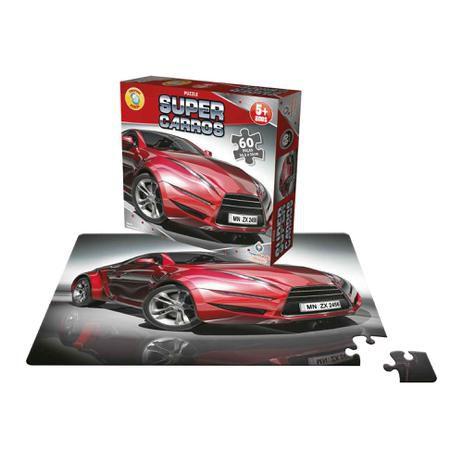Quebra-Cabeça Super Carros 60 peças