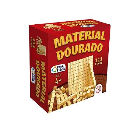 Material Dourado 111 Peças em Madeira Pais & Filhos