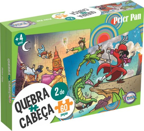 Quebra Cabeça Peter Pan 60 Peças - Toia