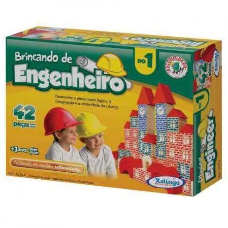 Brincando de Engenheiro 1 - Madeira - Xalingo