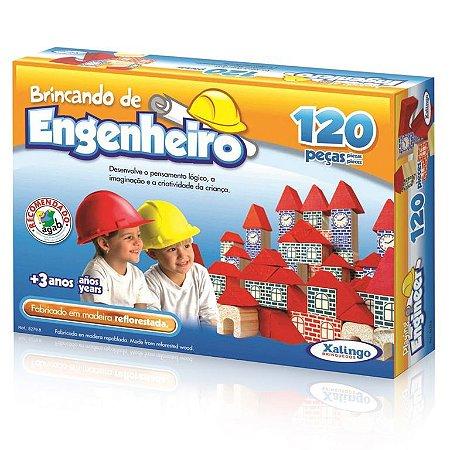 Blocos De Montar Brincando Engenheiro 120 Peças - Xalingo