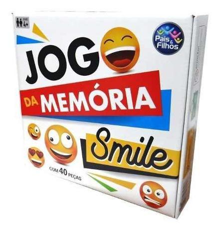Jogo Da Memoria Smile  Com 40 Pcs