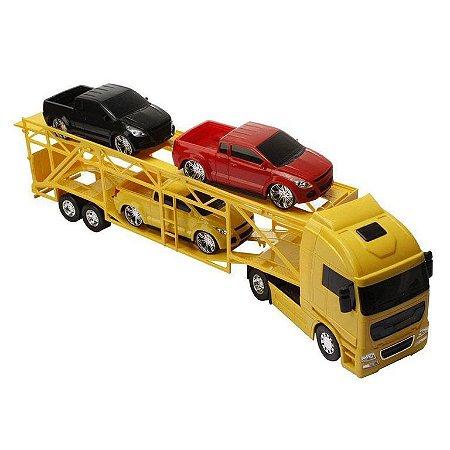 Caminhão Diamond Truck Cegonheira Amarelo - Roma