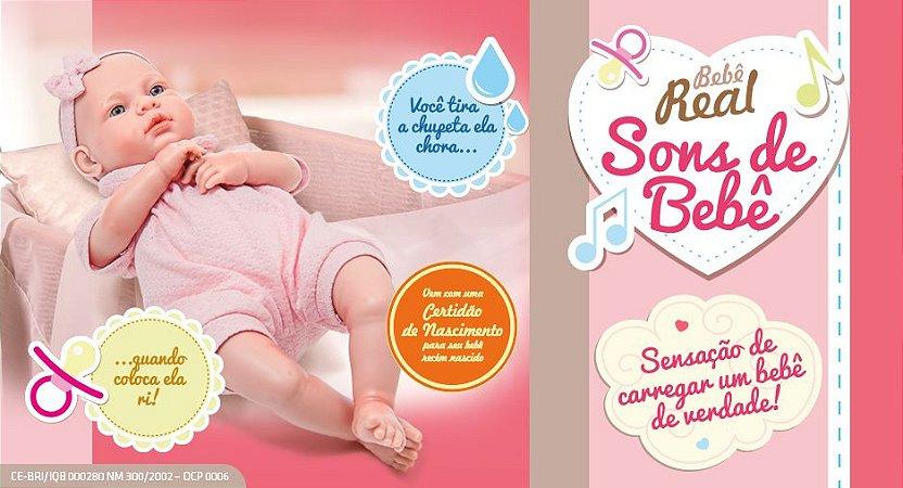 Boneca Bebê Real - Sons de Bebê