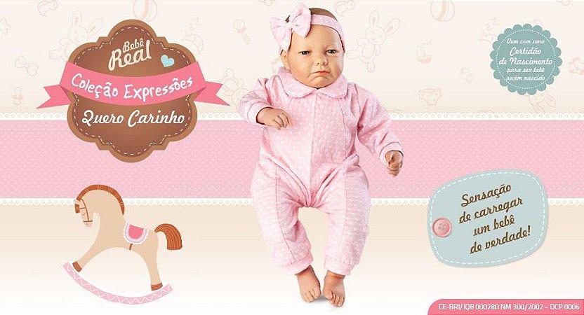 Boneca Bebê Real - Expressões Quero Carinho
