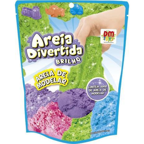 Areia Divertida Refil 300gr. - Dm Toys