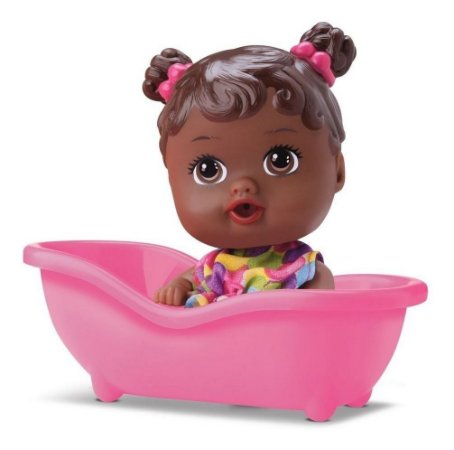Boneca Baby Little Dolls Alive Banheirinha Negra -  Diver Toys