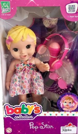 Boneca Loira Baby S Collection Pop Star - Supertroys