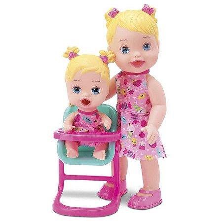 Boneca Hora da Papinha Loira - Diver Toys