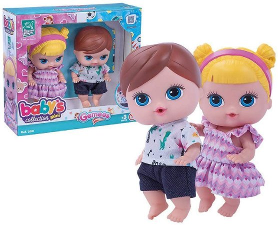 Boneca Babys Collection Mini Gemeos - Super Toys