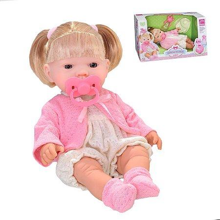 Boneca Bebêzinho Xixi C/ Acessórios - Roma Brinquedos