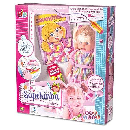 Boneca Sapekinha Colors Milk com Giz - Milk Brinquedos