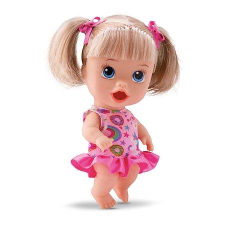 Boneca Little Dolls Come Come Loira - Divertoys