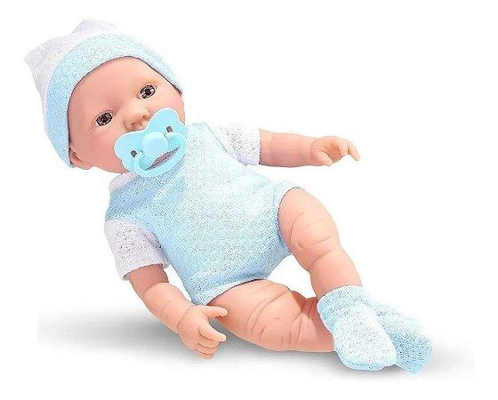 Boneco Bebêzinho Real Primeiros Cuidados Menino Roma Brinquedos