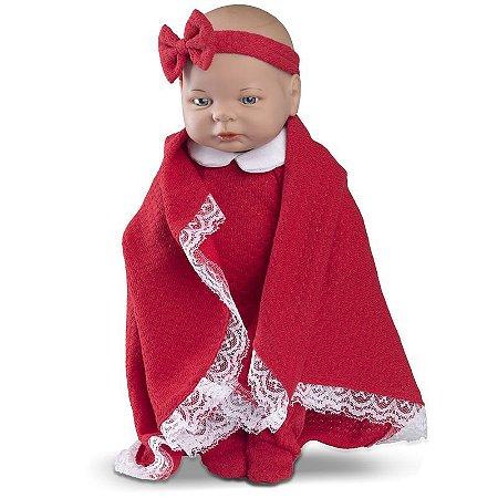 Boneca Bebê - Roma Babies - Saída da Maternidade Vermelho - Roma Jensen