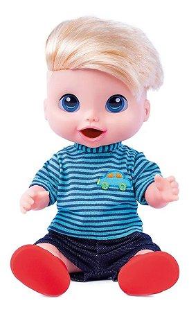 Boneco Babys Collection Menino Comidinha Super Toys
