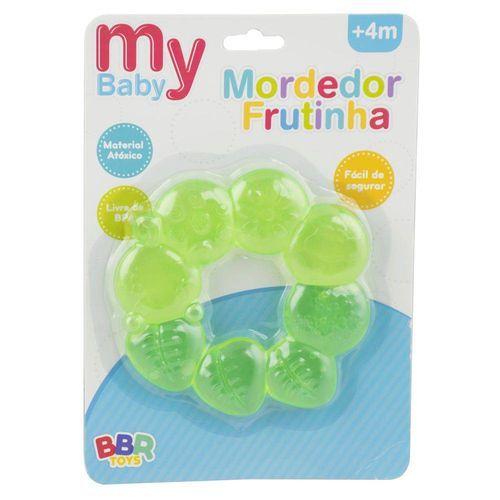 Mordedor Para Bebê My Baby BBR Toys Frutinhas Verde