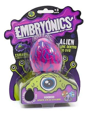 Brinquedo Embryonics Ovo Alien Hooboo Com Slime Rosa Dtc