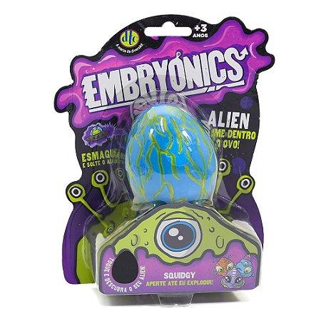 Brinquedo Embryonics Ovo Alien Squidgy Com Slime Azul Dtc