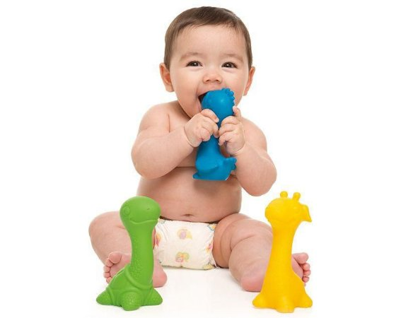 Mordedor para Bebê com Chocalho Pescoçudos Arara - Toyster