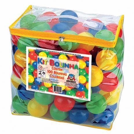 Kit c/ 100 bolinhas pacote - colorida