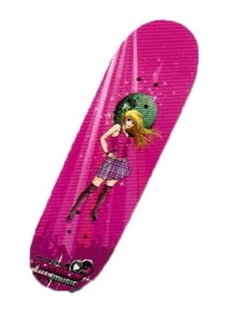 Skate Com Acessorios Rosa - Fenix