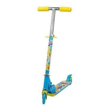 Patinete Infantil 2 Rodas Led Azul Com Regulagem guidão