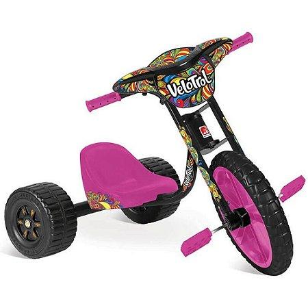 Triciclo Velotrol - Rosa - Bandeirante