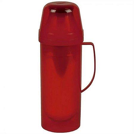 Garrafa termica de mesa luxo vintage vermelha para 1 litro mor