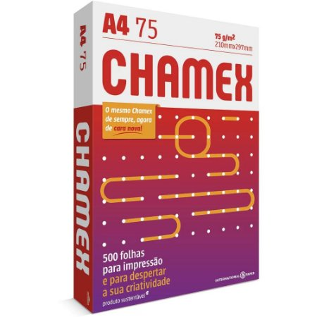 Chamex A4 75G 500 Folhas - 210mmx297mm