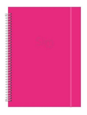 Caderno Espiral Pink Slim Color 96 Folhas - Romitec