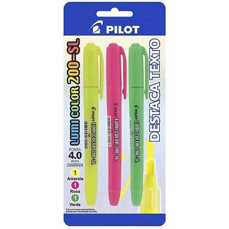 Pincel marca texto lumi-color 3 Cores - Pilot